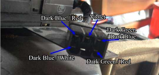 The Wire Colours for the Blend Door Motor Connector