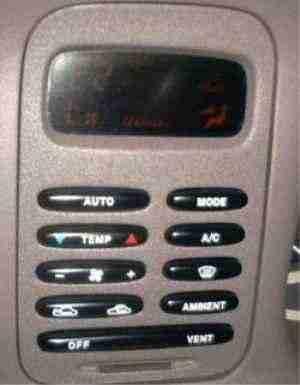 Climate Control Interface, Turned Off