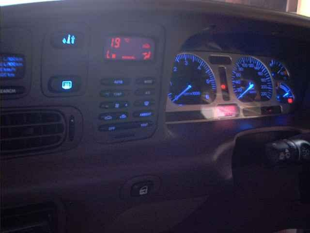 An EF Dash modified with Blue LED's