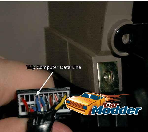 The Data Line that you will need to add to the Right Hand Side Instrument Cluster Connector
