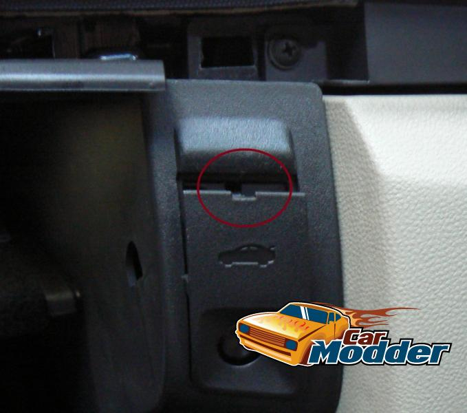 Glove box hidden screw locations