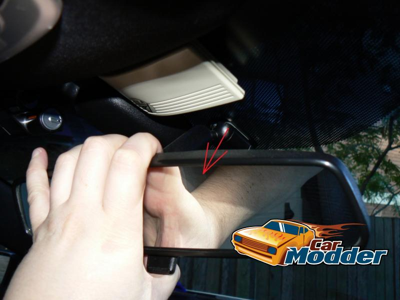 Removing the existing rear view mirror