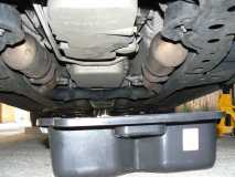 Place the Oil Pan directly underneath the sump plug