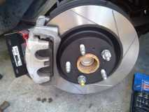 Brake Caliper fitted to new brake pads and rotor