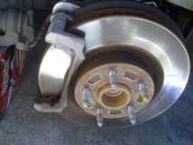 Brake Caliper and Brake Pads Removed